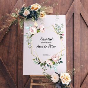 Esküvői köszöntő tábla